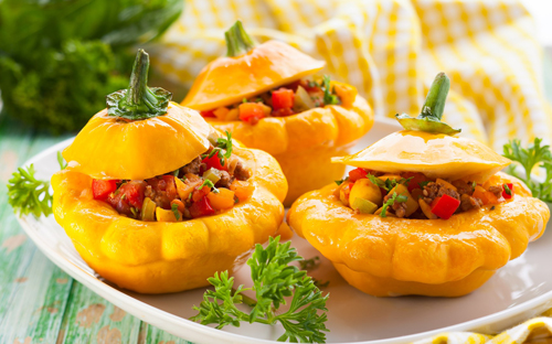 Вкусные блюда из патиссонов рецепты